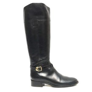 NEW Tory Burch Tall Black Leather Riding Boots 7.5